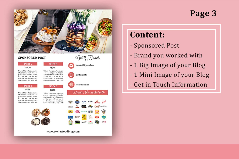 Influencer Food Media Kit Template - Sponsorships For Blogs example image 4