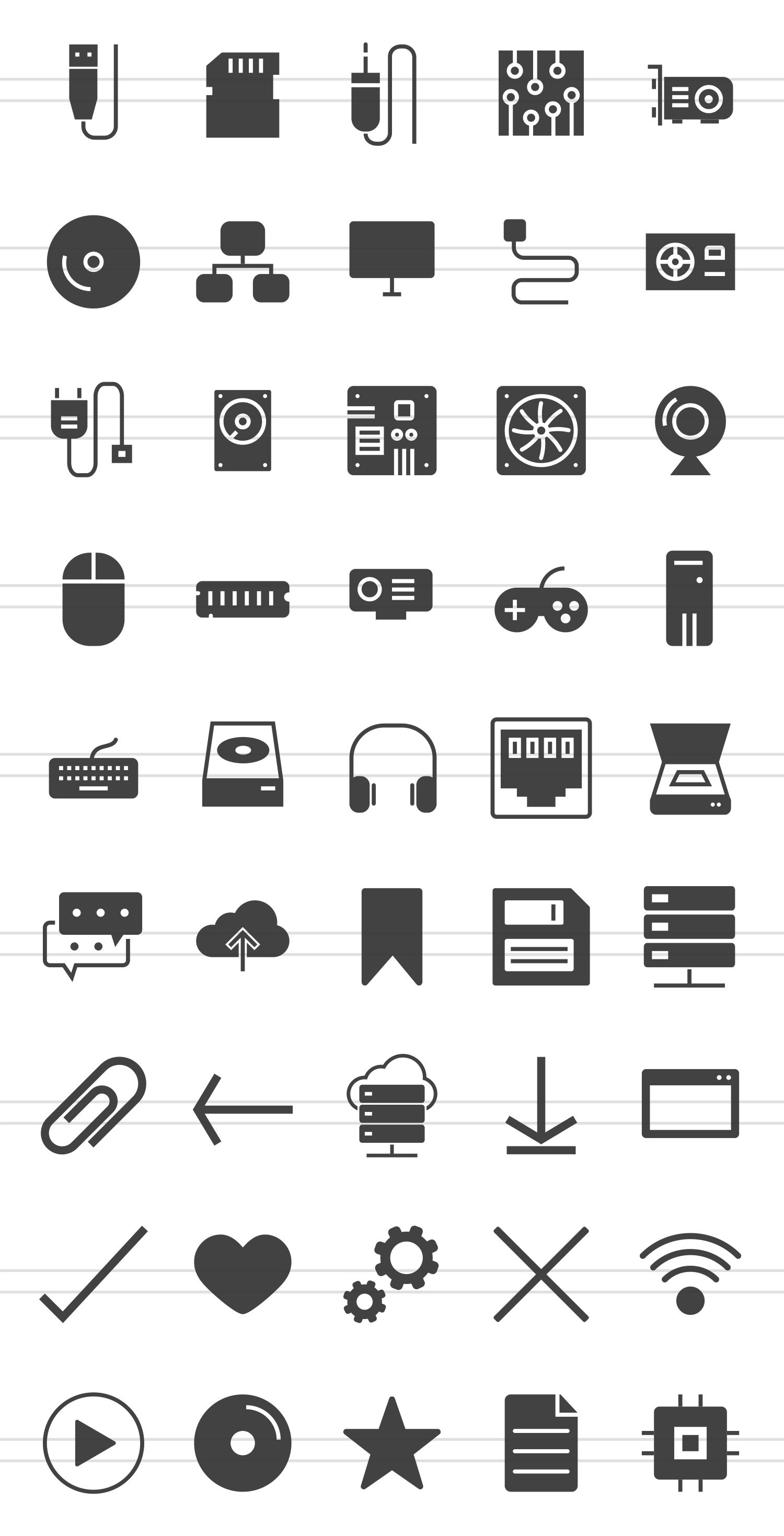 45 Computer Glyph Icons example image 2