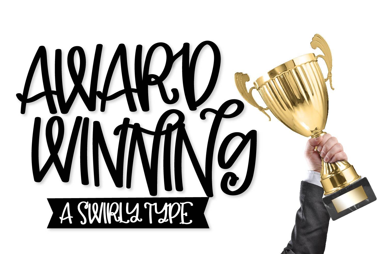 Award Winning - A Swirly Type example image 1