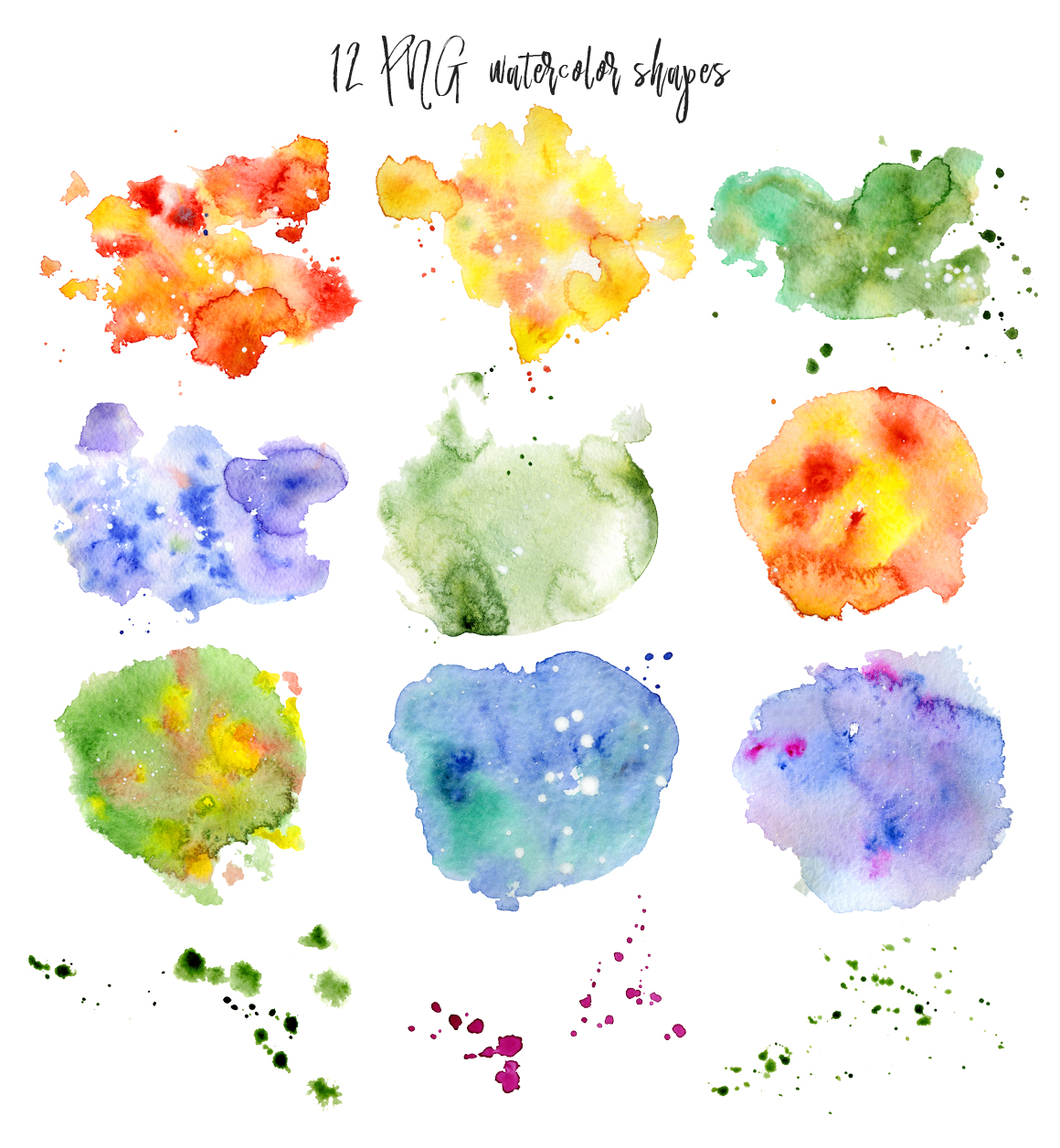 Boho Watercolor abstract Cactus Tropical clipart example image 7