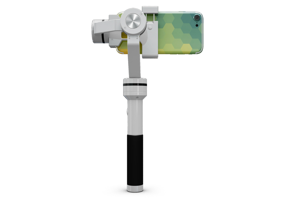 iPhone 7 with Selfie Stick Mockup example image 3