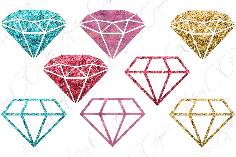 Glitter Diamonds Clipart example image 2