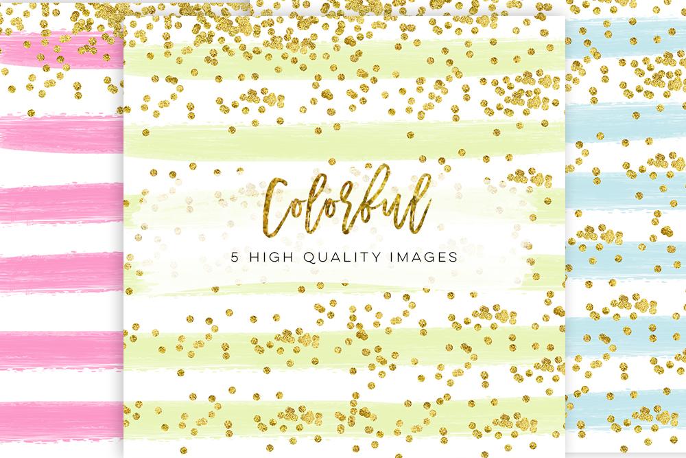 planner cover planner paper, diamond confetti paper, gold confetti candy paper, mini paper kit Rainbow Glitter Pretty Glitter planner example image 2