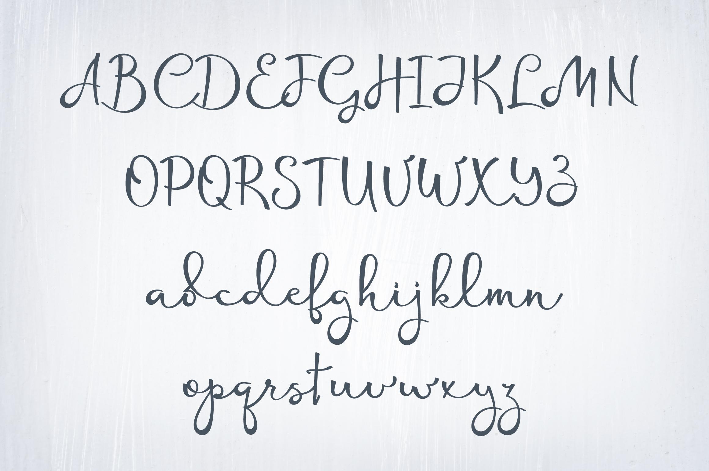Rotterdam - handwritten calligraphy font example image 7