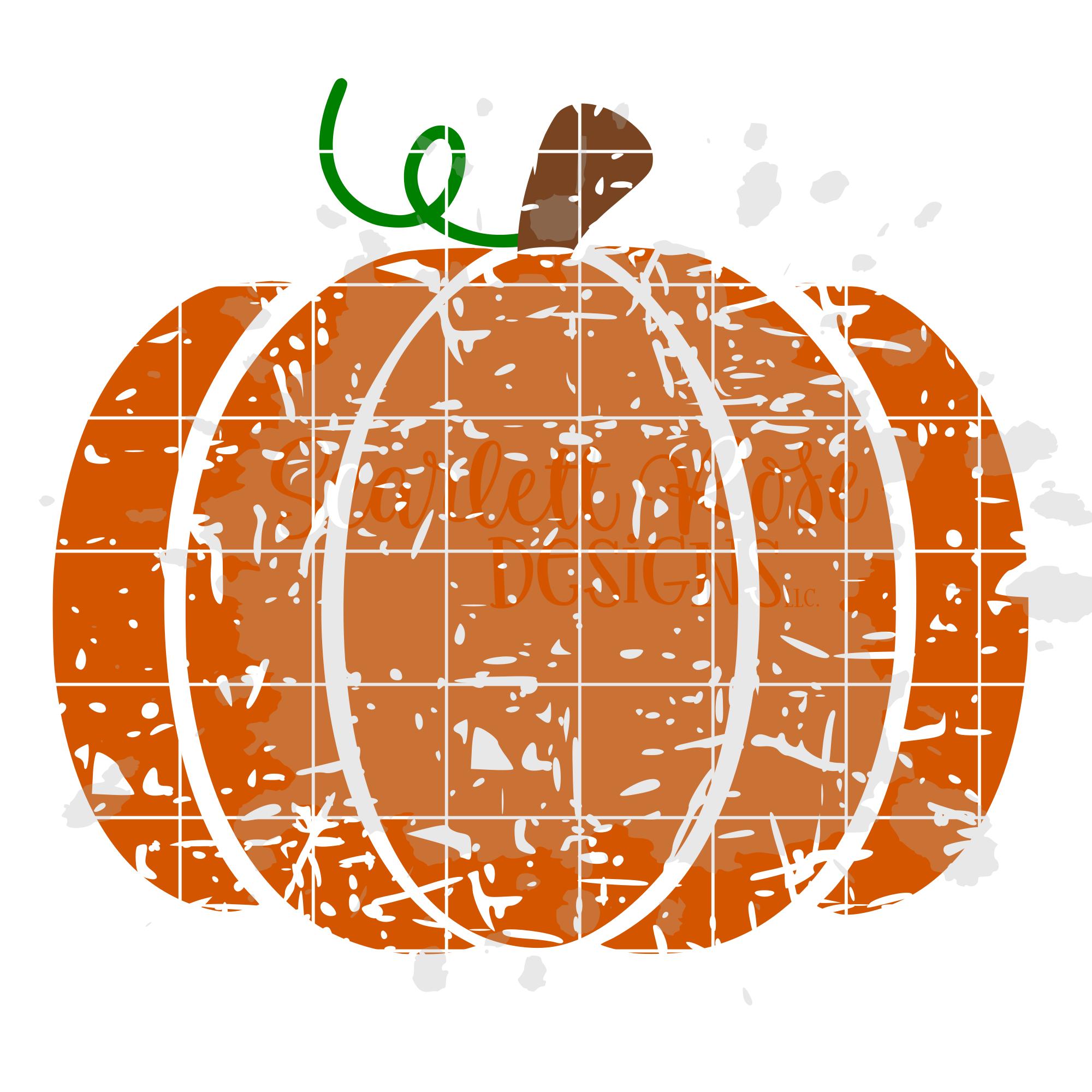 Distressed Pumpkin SVG example image 2