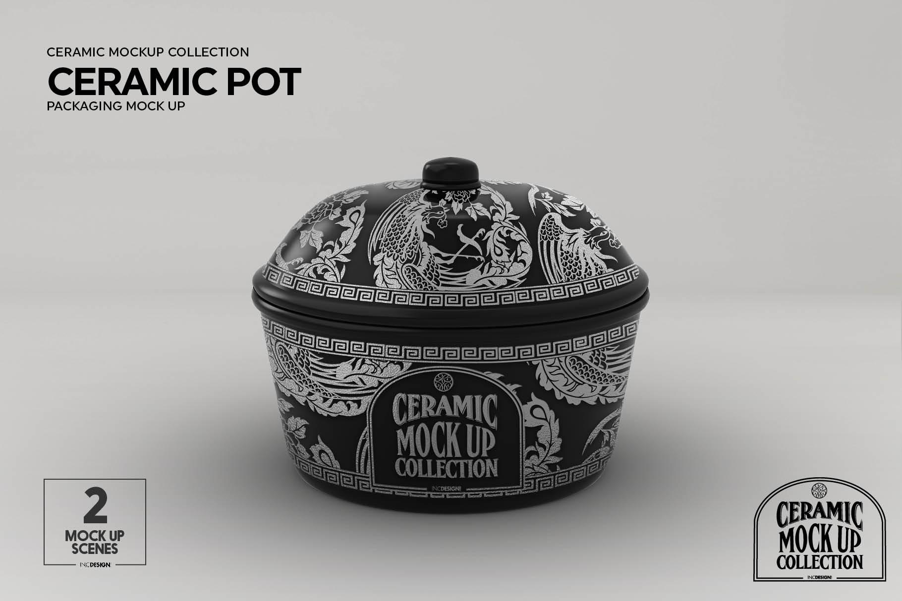 Ceramic Pot Packaging Mock Up example image 6