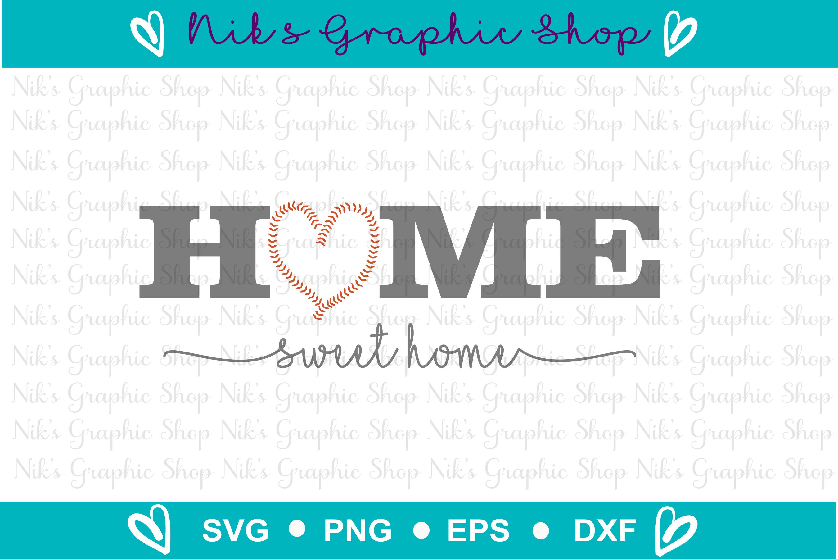 Baseball Svg, Home Sign Svg, Home Sweet Home Svg example image 2