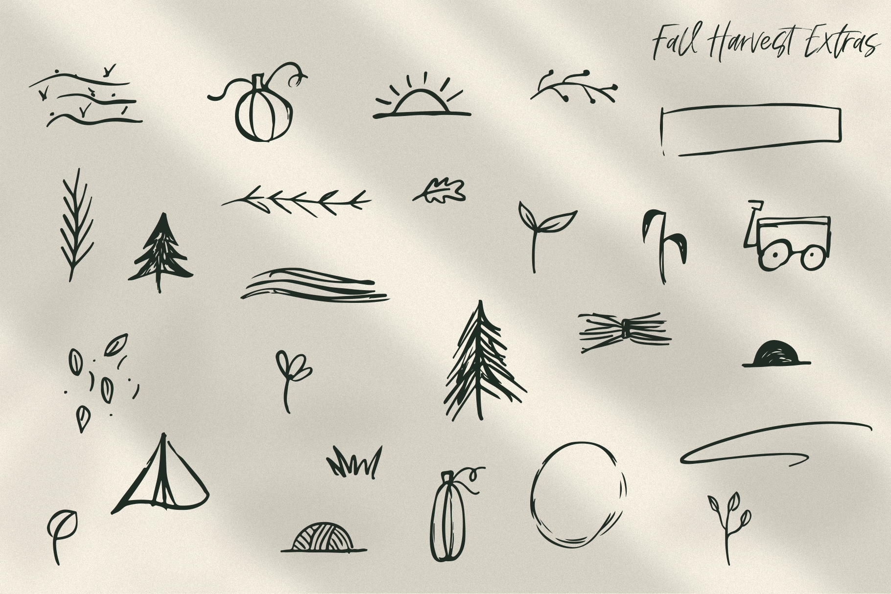 Fall Harvest - A Handwritten Script Font with extras! example image 13