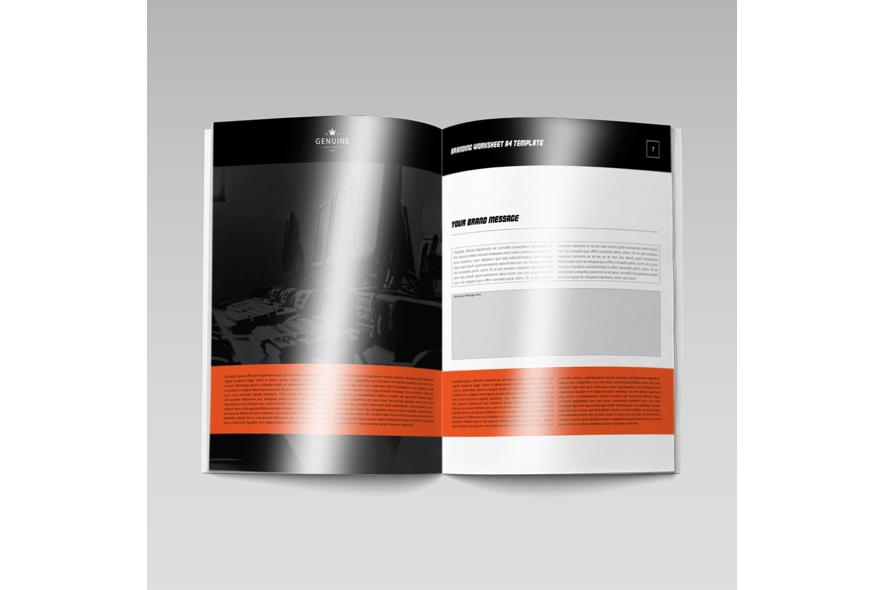 Branding Worksheet A4 Template example image 2