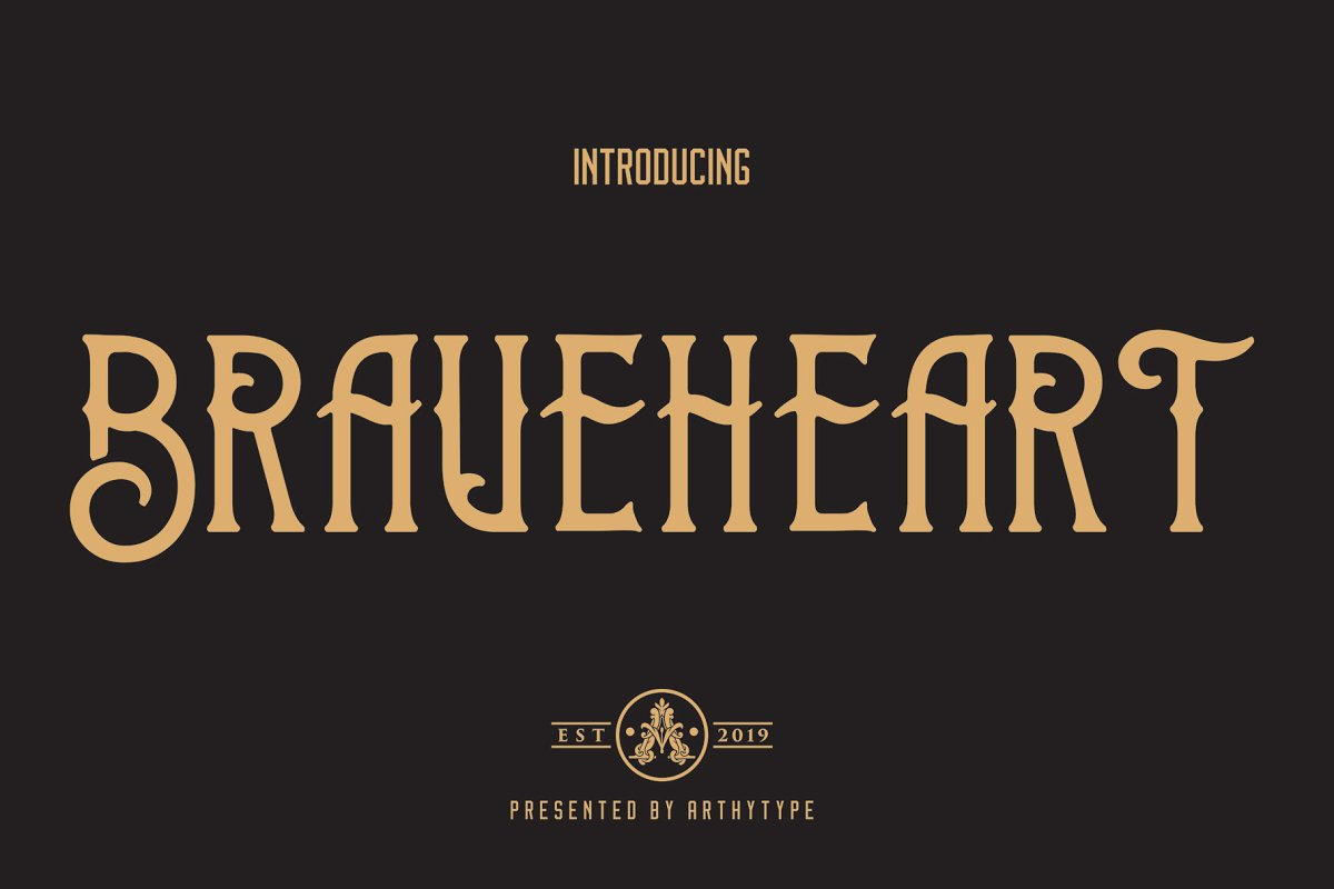 Brave Heart Display Font example image 2