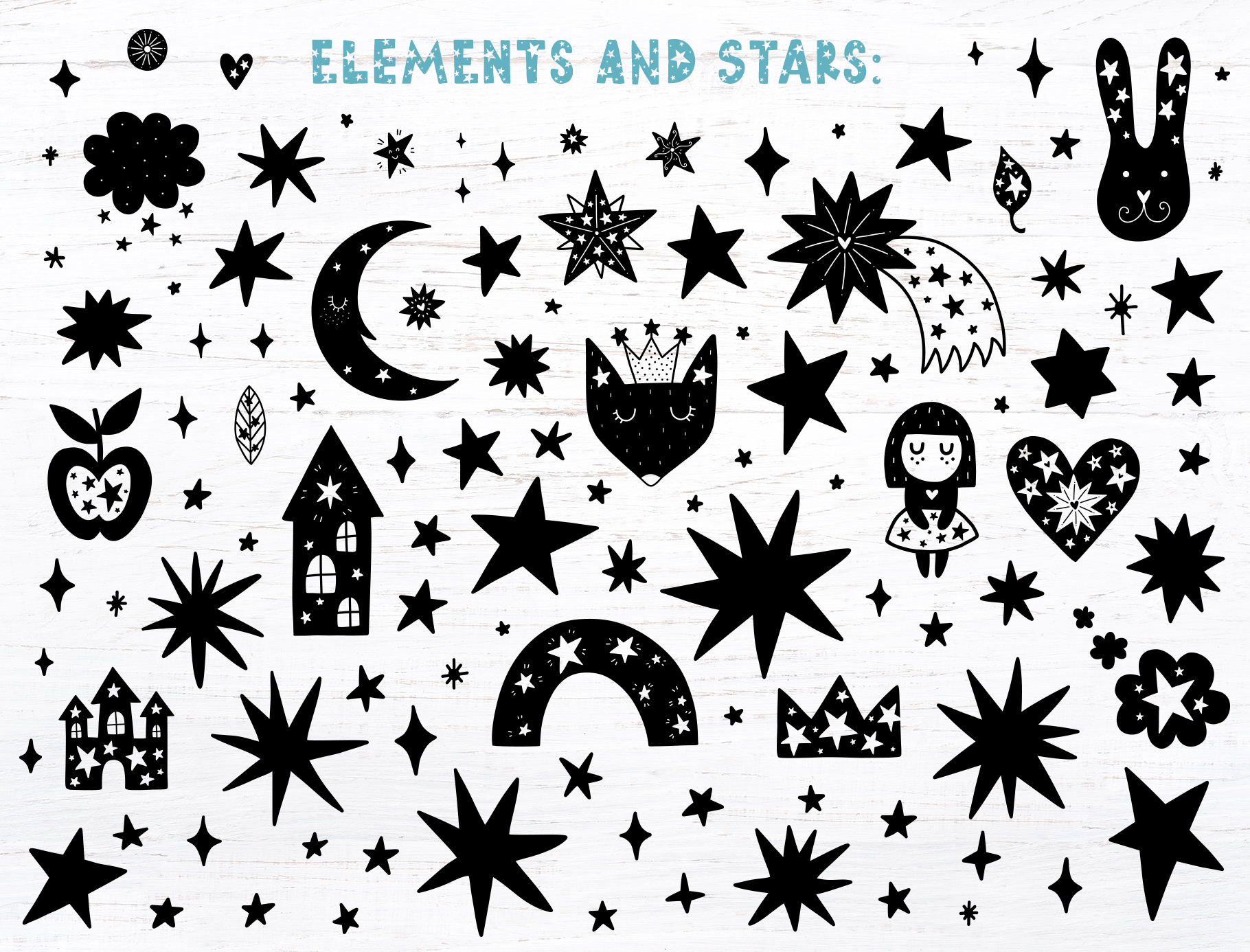 Starry Typeface - Font with Clipart example image 7