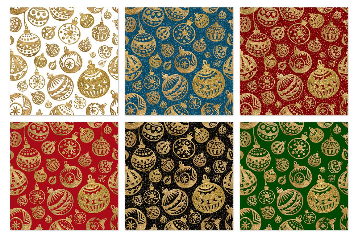 GOLD Christmas balls example image 3