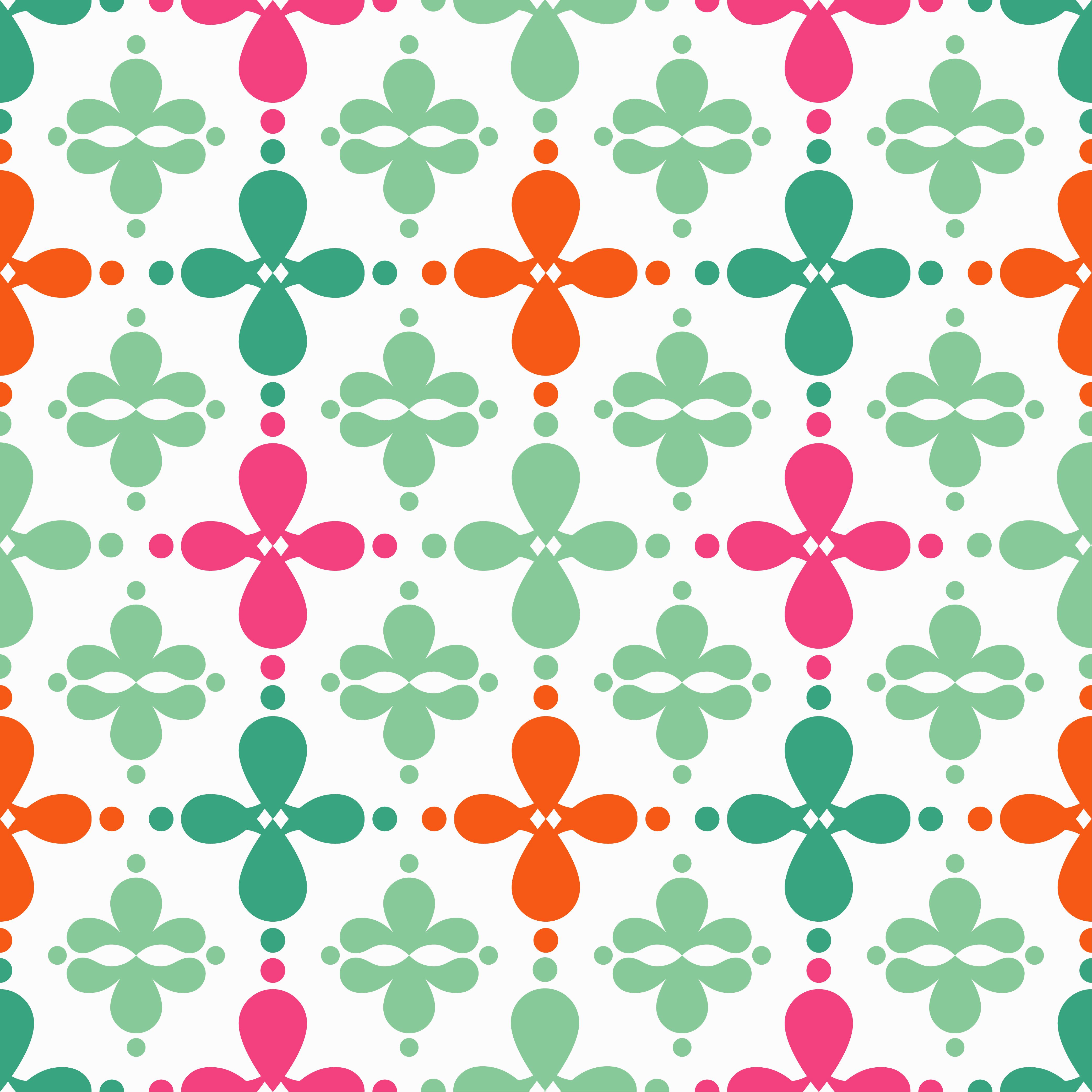 Seamless vector geometric Victorian pattern. Vector illustration.  example image 1