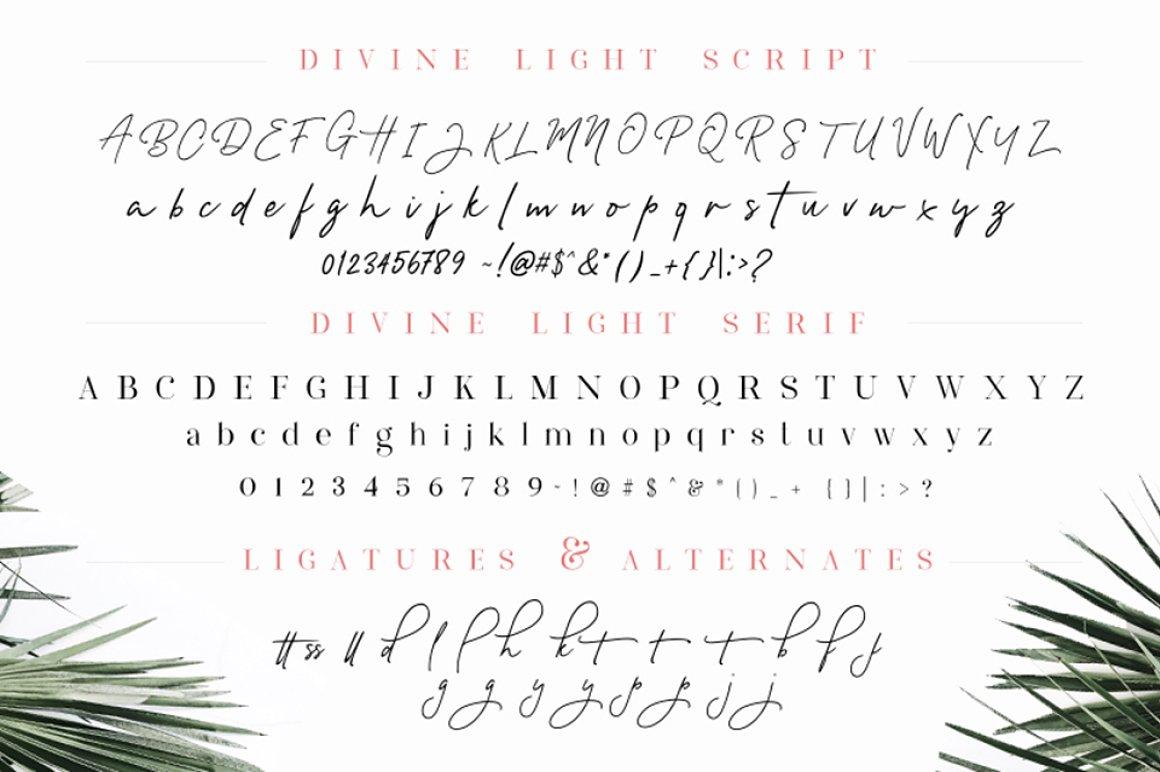 Divine Light Font Duo and extras example image 6