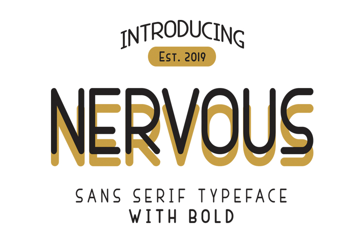 Nervous Sans Serif example image 1