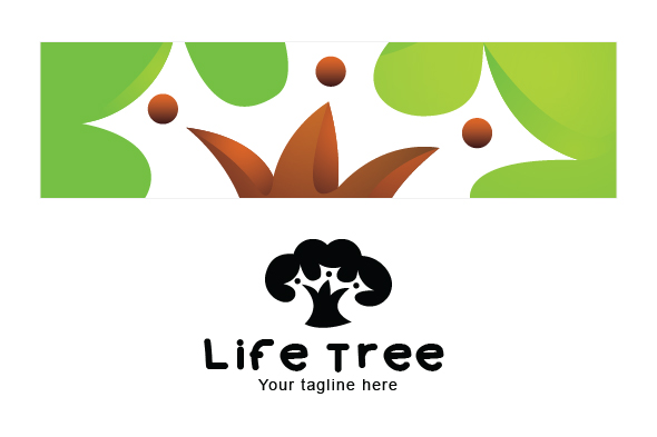 Life Tree - Environment Friendly Community Stock Logo example image 3