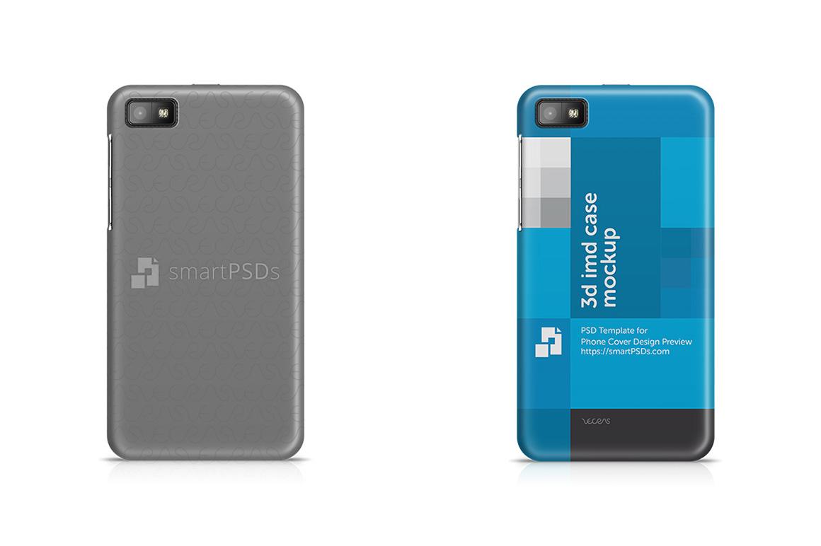 BlackBerry Z10 3d IMD Mobile Case Design Mockup 2013 example image 1