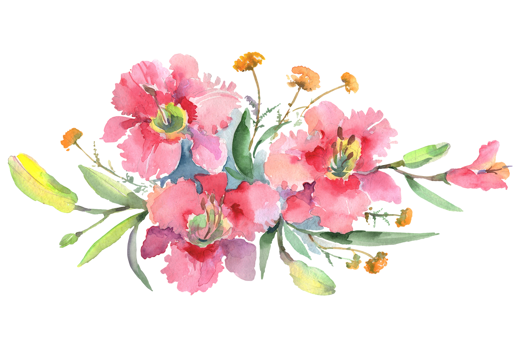Imperial bouquet Watercolor png example image 1