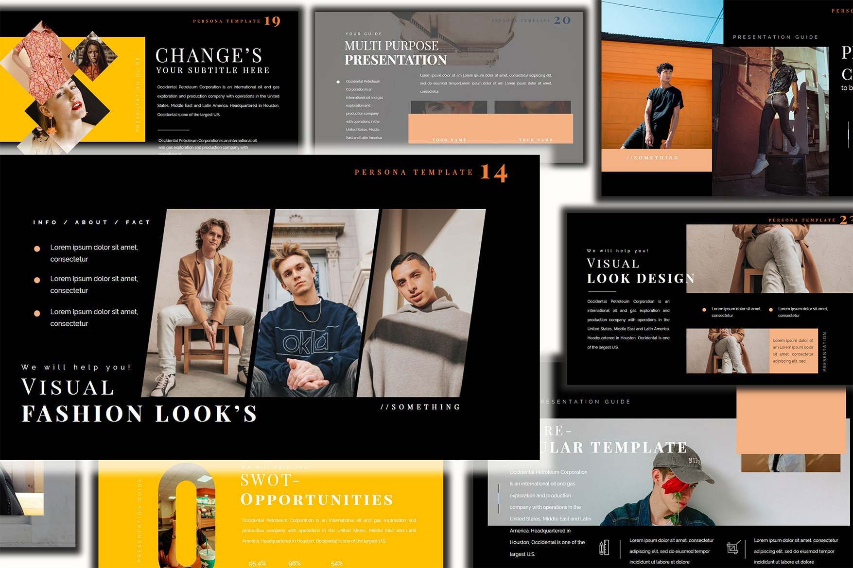 Pesona Dark Lookbook Keynote Template example image 6