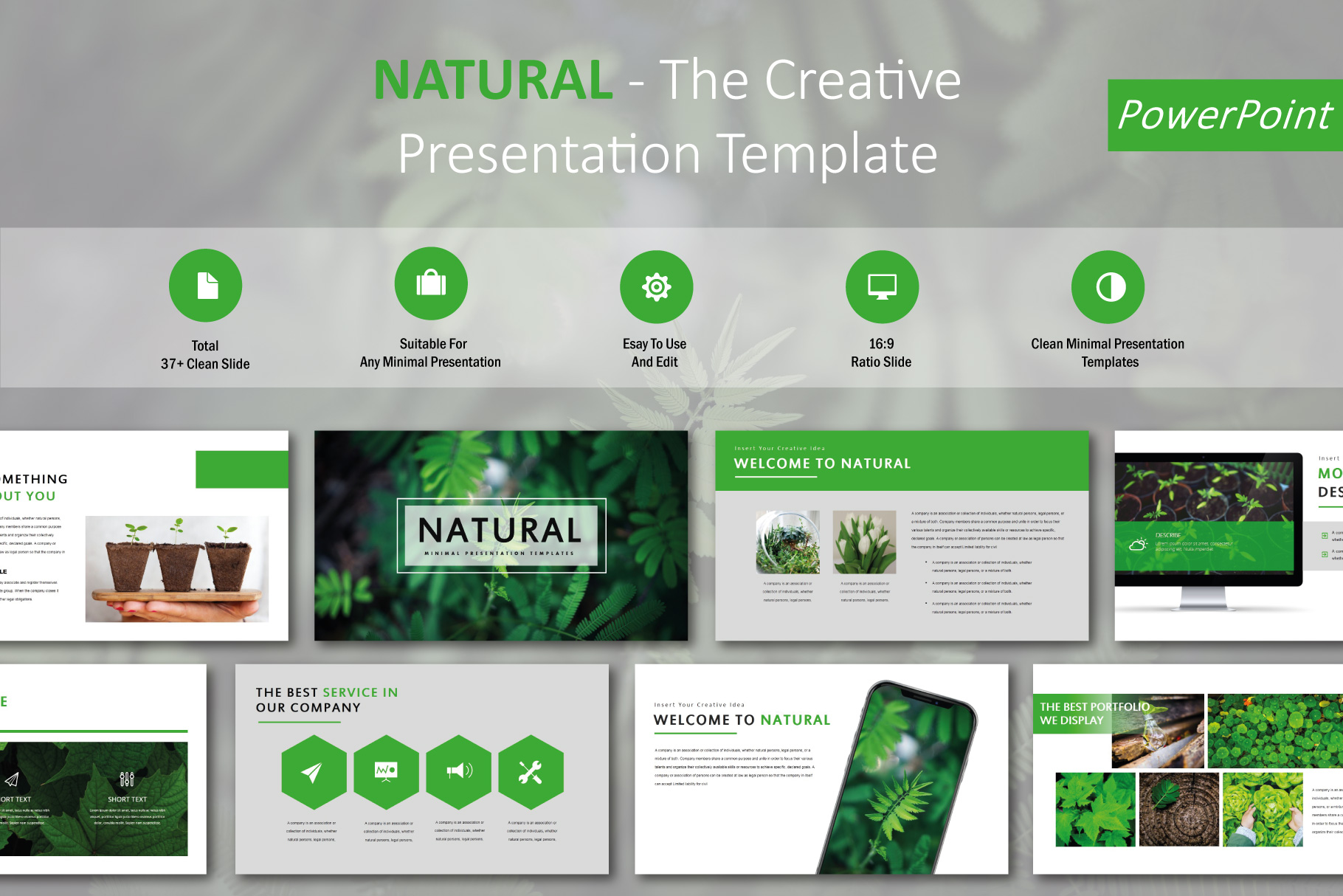 Natural PowerPoint Templates example image 1