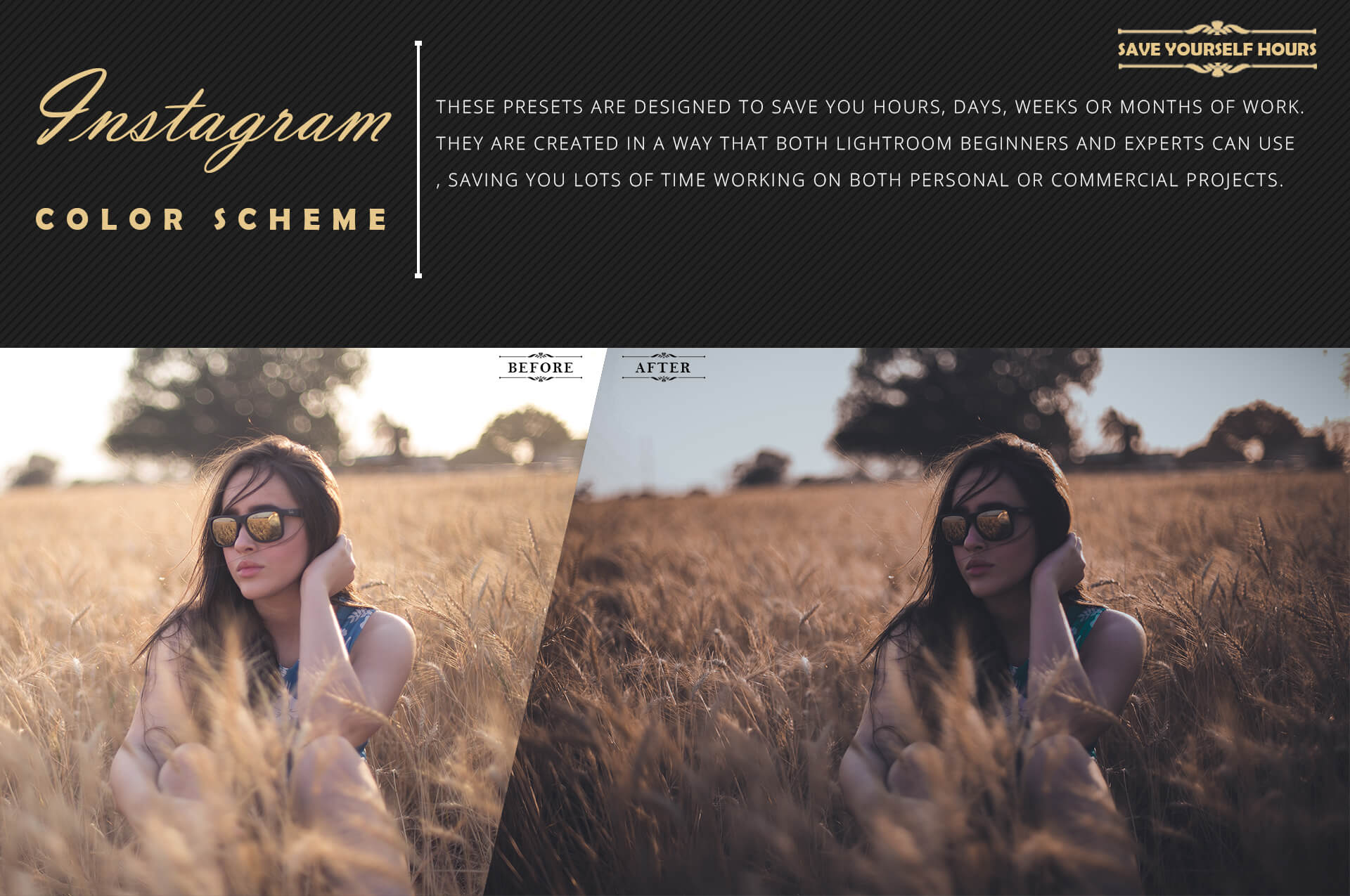 Instagram color grading lightroom presets theme example image 7