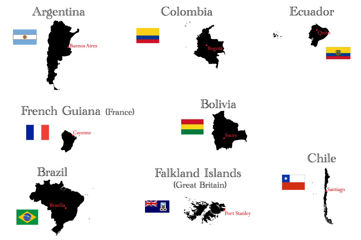 Countries of North and South America example image 4