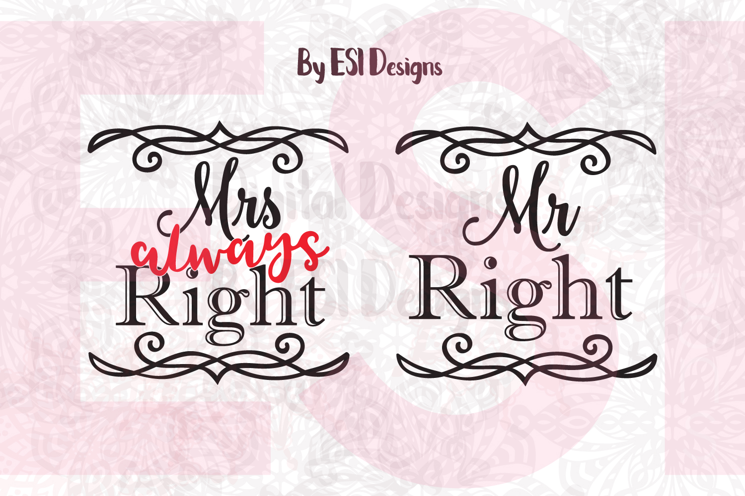 Mrs Always Right - Mr Right example image 1