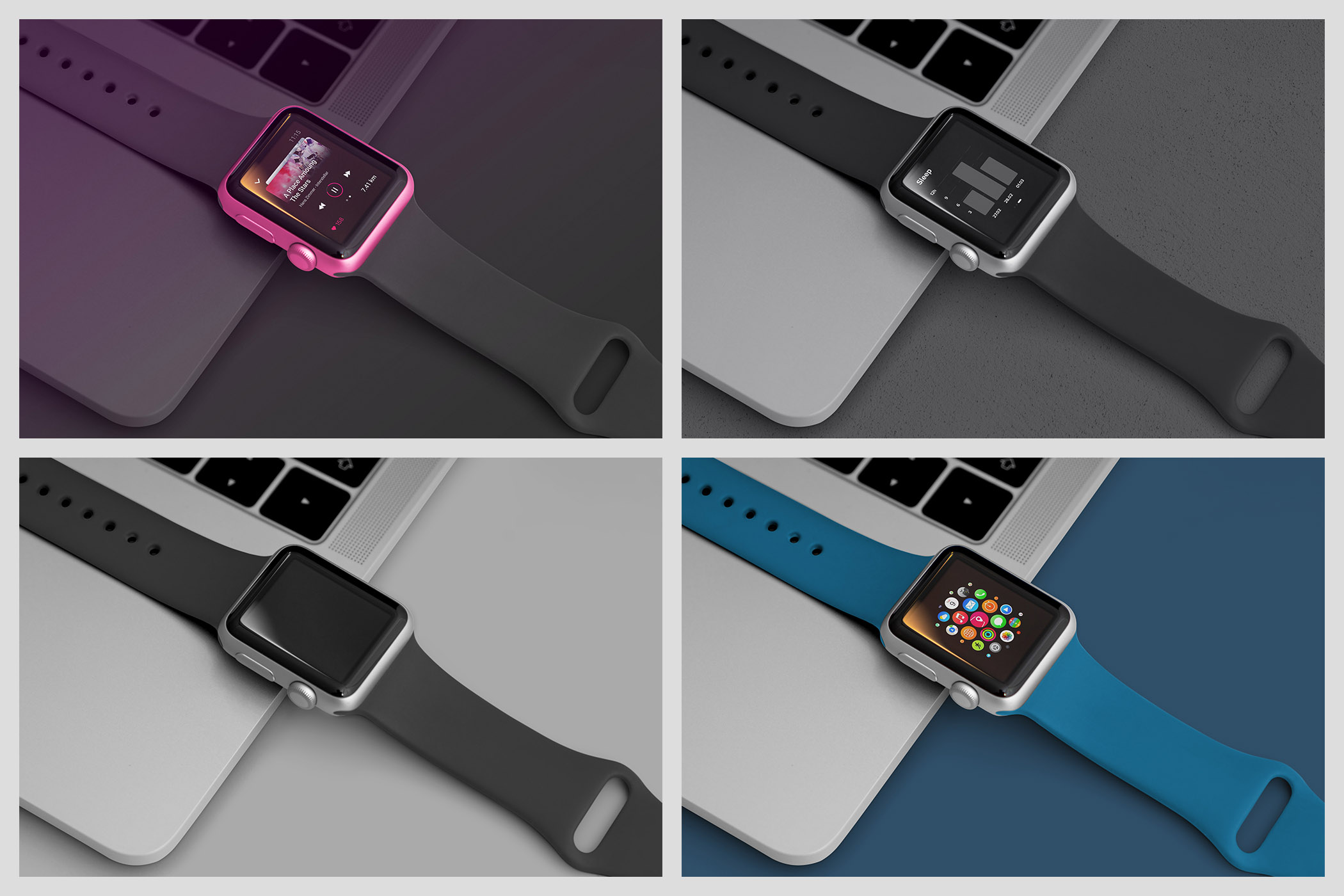Realistic Smart Watch Mockups example image 12