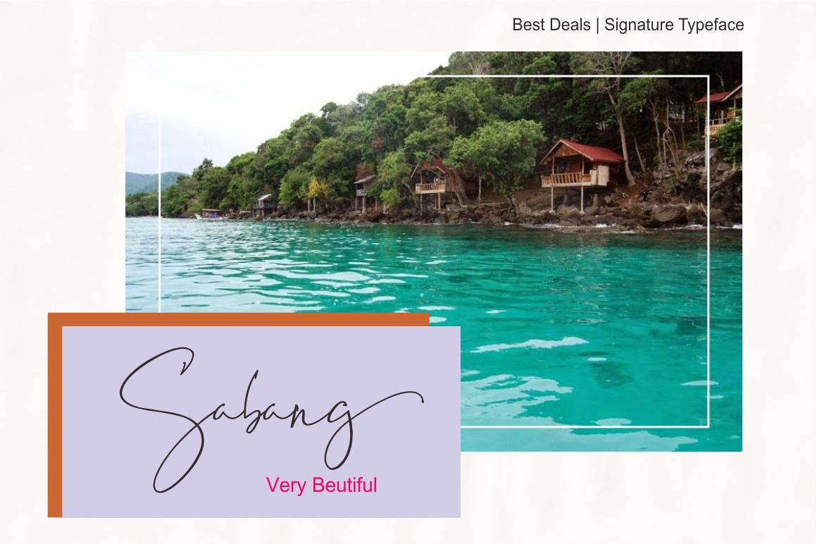 Best Deals | Signature Typeface example image 6
