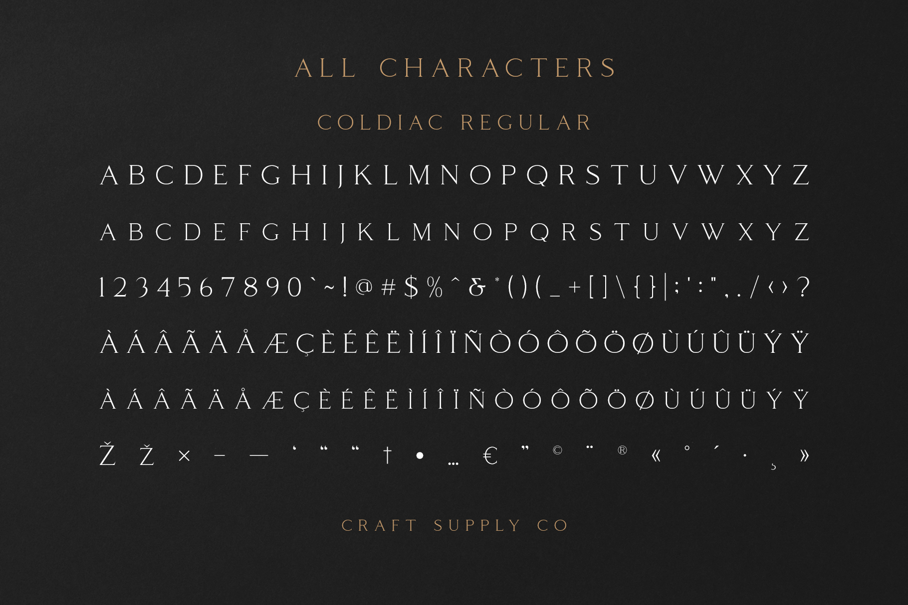 Coldiac - Luxury Serif Font example image 7