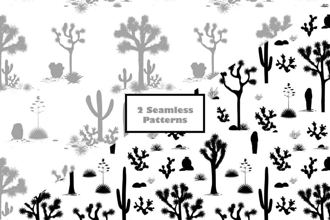 Cacti World. Big Vector Collection example image 4