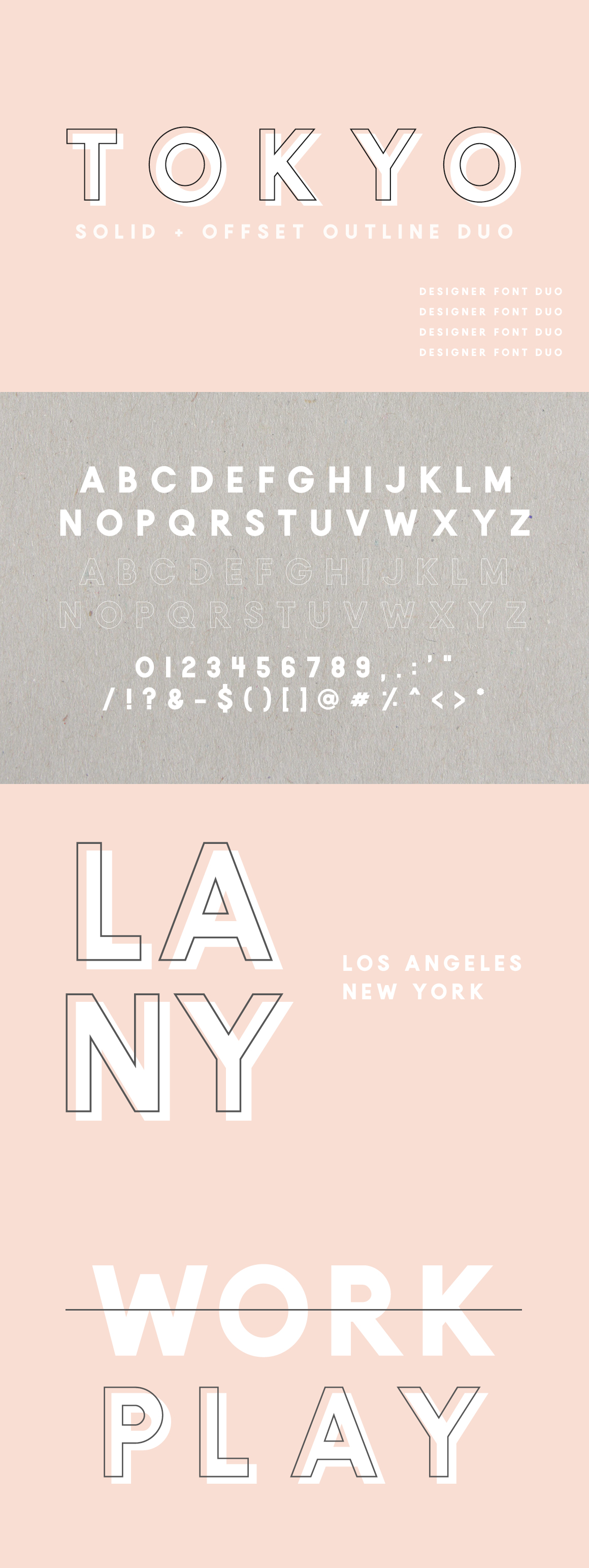 Tokyo   A Designer Font Duo example image 6