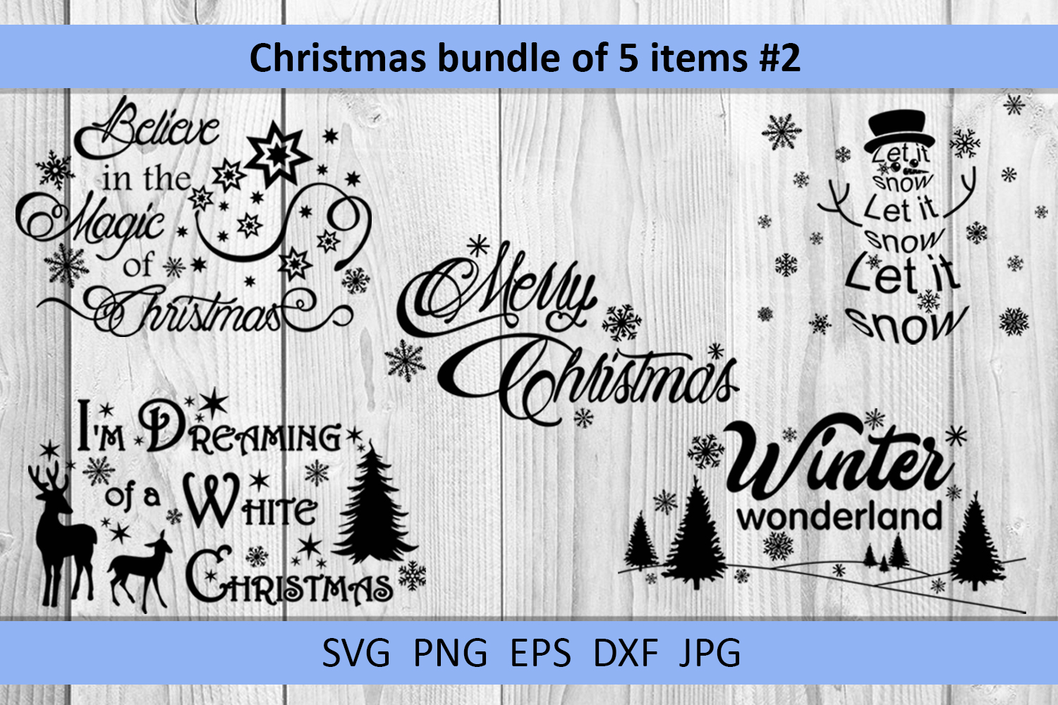 Christmas bundle svg Christmas sayings svg Winter svg example image 17