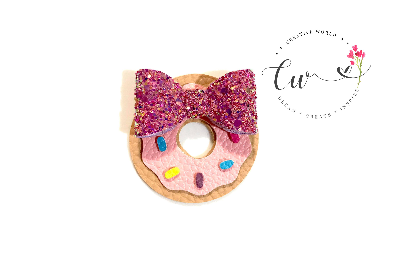 Cutie Donut Hair Clip Digital Template example image 1