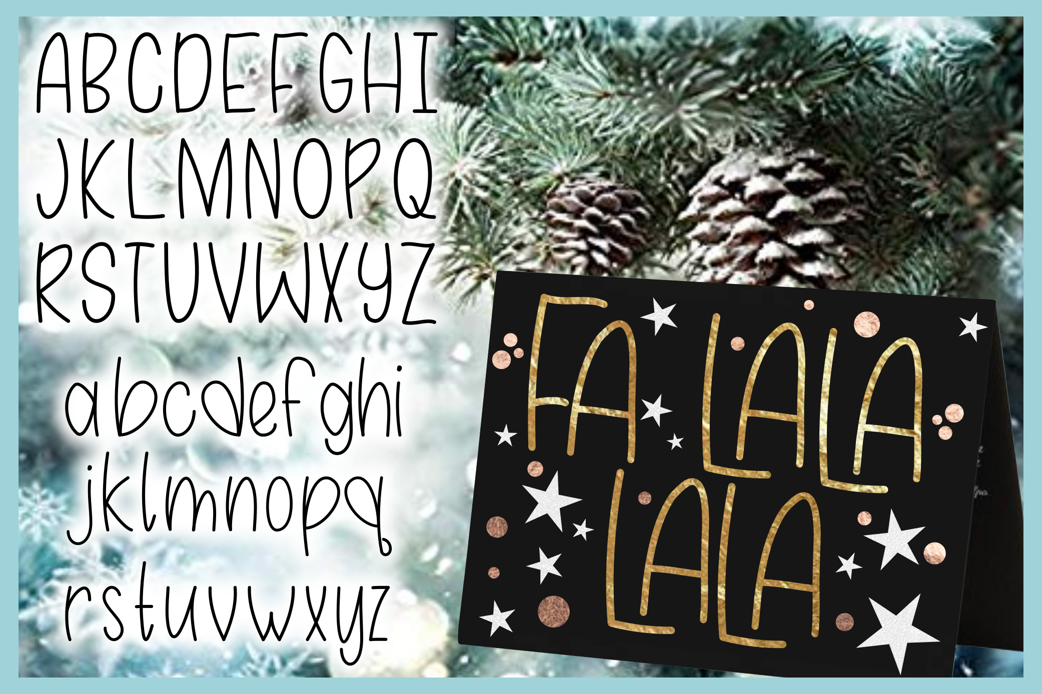 Hand Lettered Alphabet - Foil Quill Single Line SVG example image 3