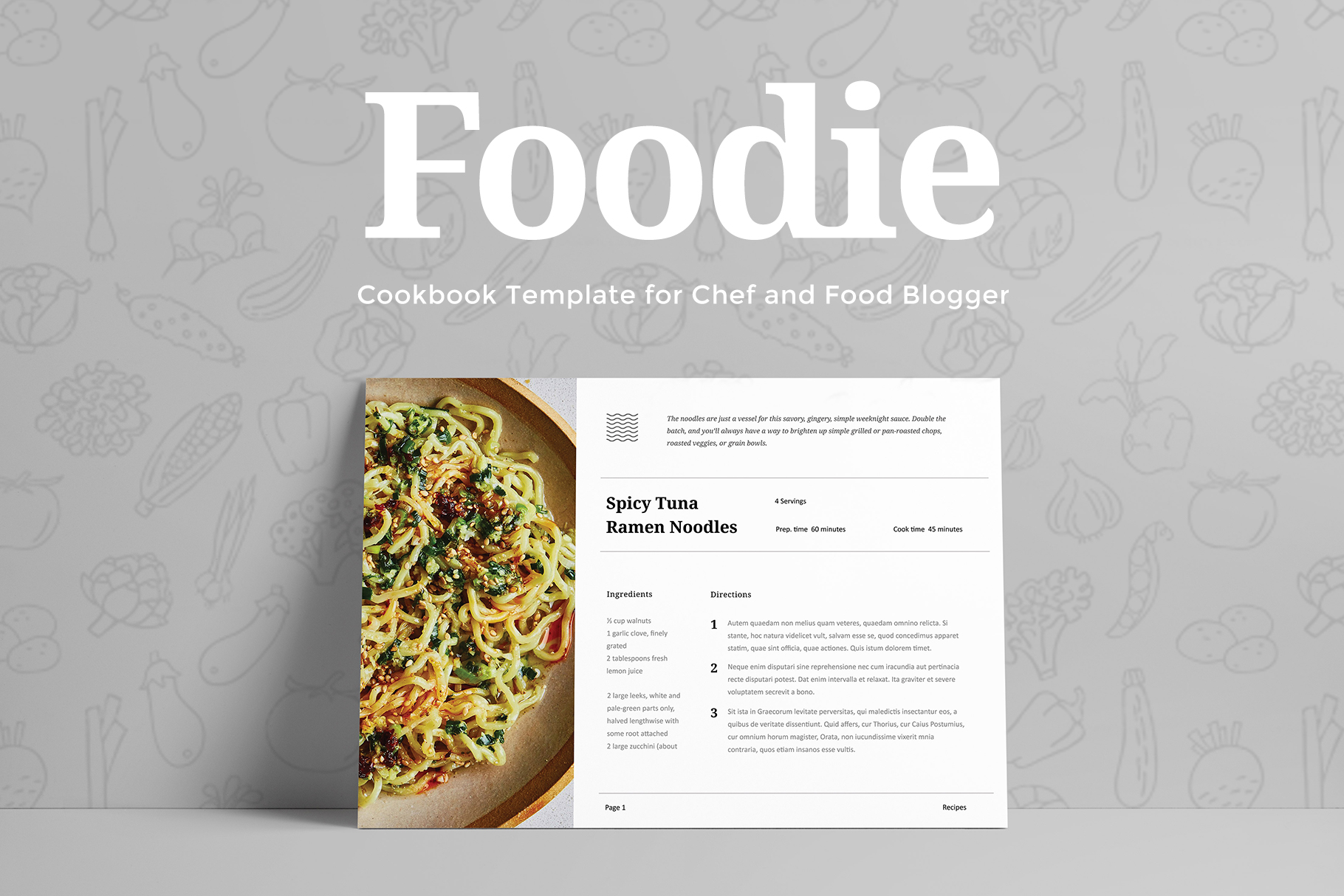 Foodie - Cookbook Template example image 1