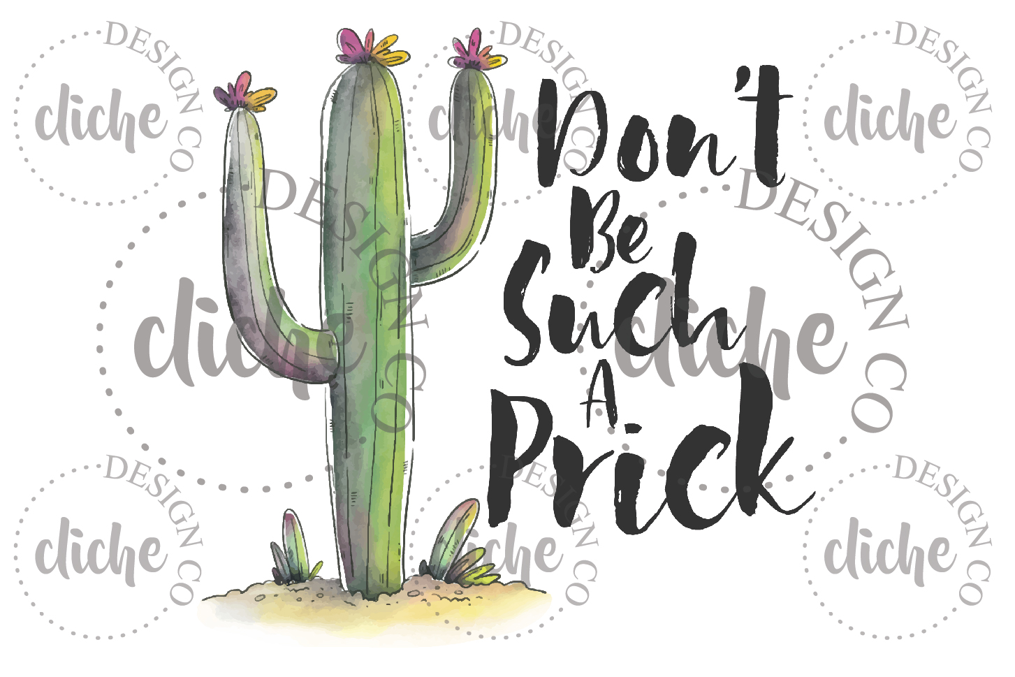 Funny Cactus Sublimation Design example image 1