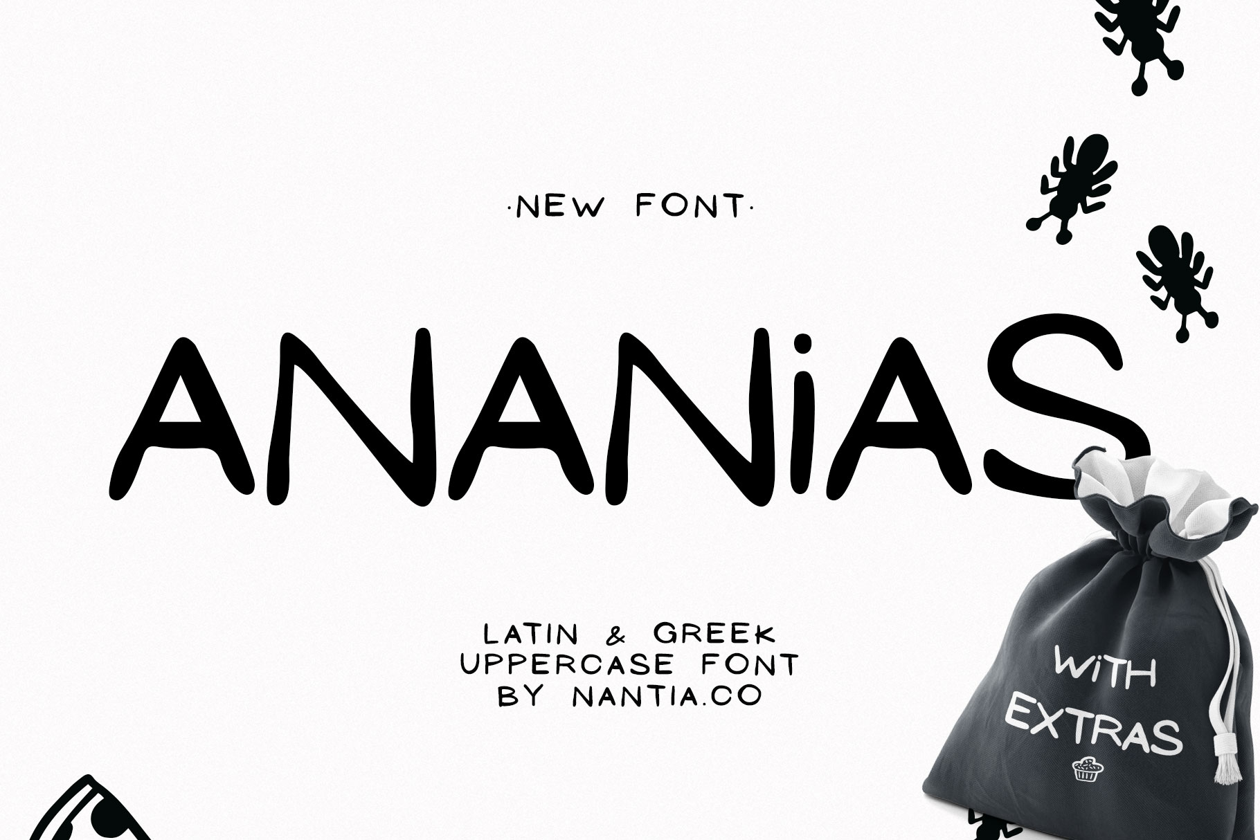 Ananias Doodle Font example image 1
