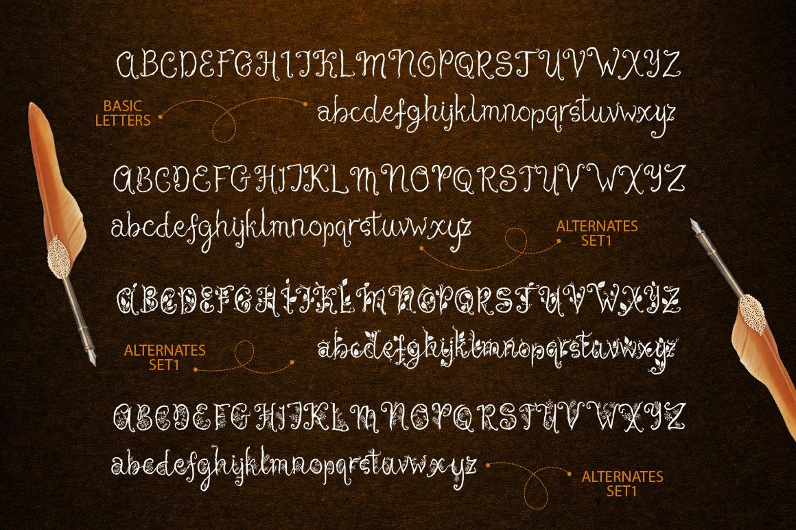 Cheshire. Magic script font. example image 3