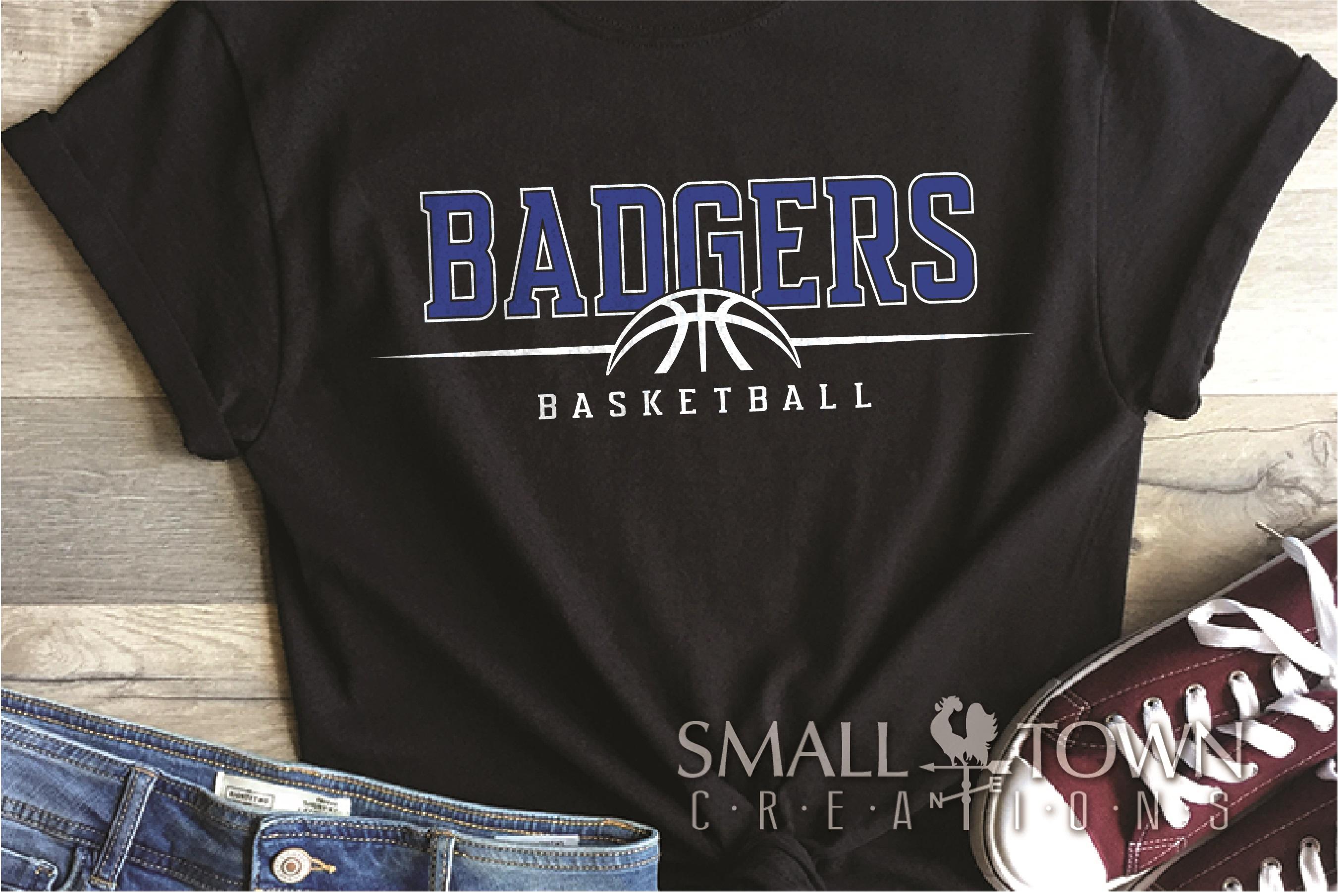 Badger, Badger Basketball Team, Sport, PRINT, CUT & DESIGN example image 1