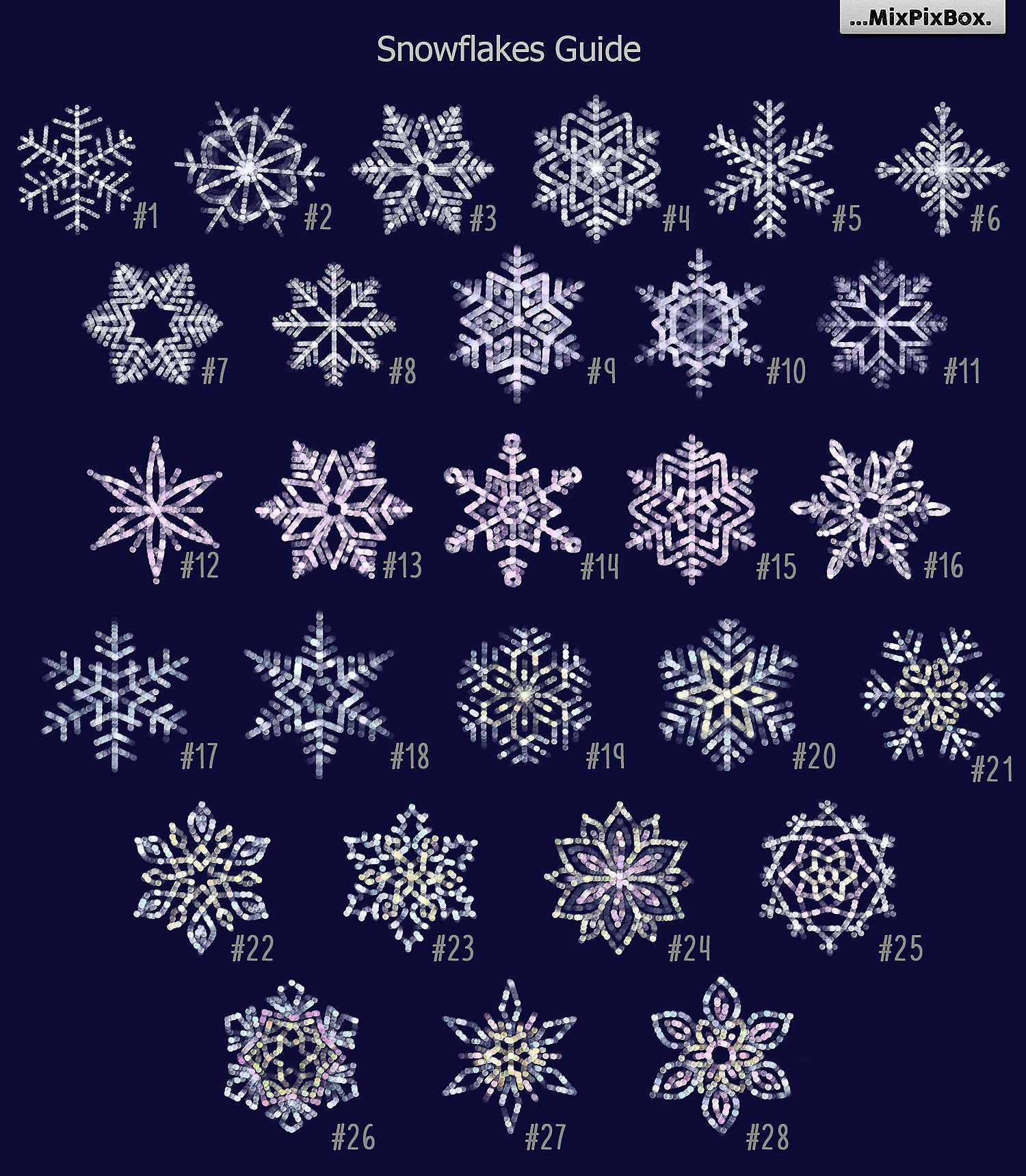 Snowflakes clipart and backgrounds example image 6
