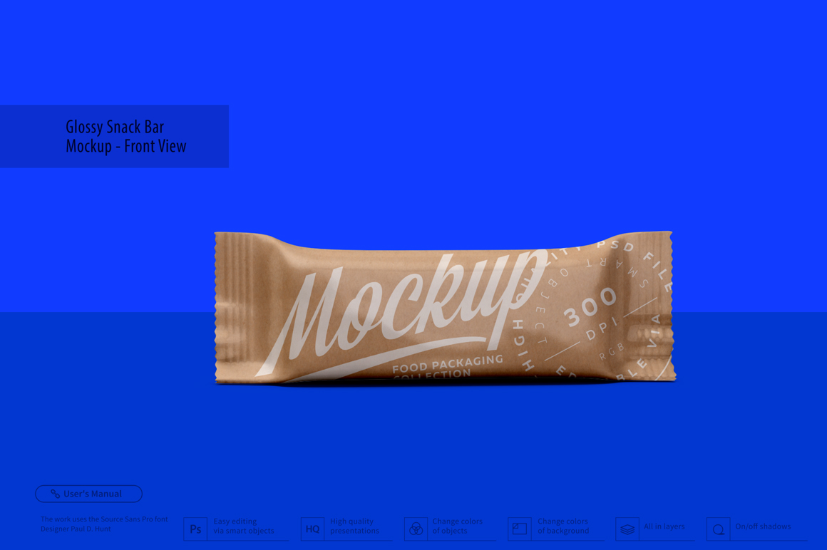 Kraft Snack Bar Mockup - Front View example image 3