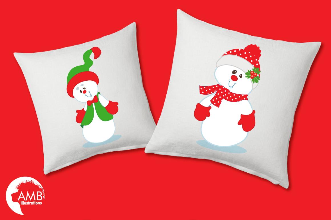 Happy Snowmen clipart, graphics, illustrations AMB-503 example image 2