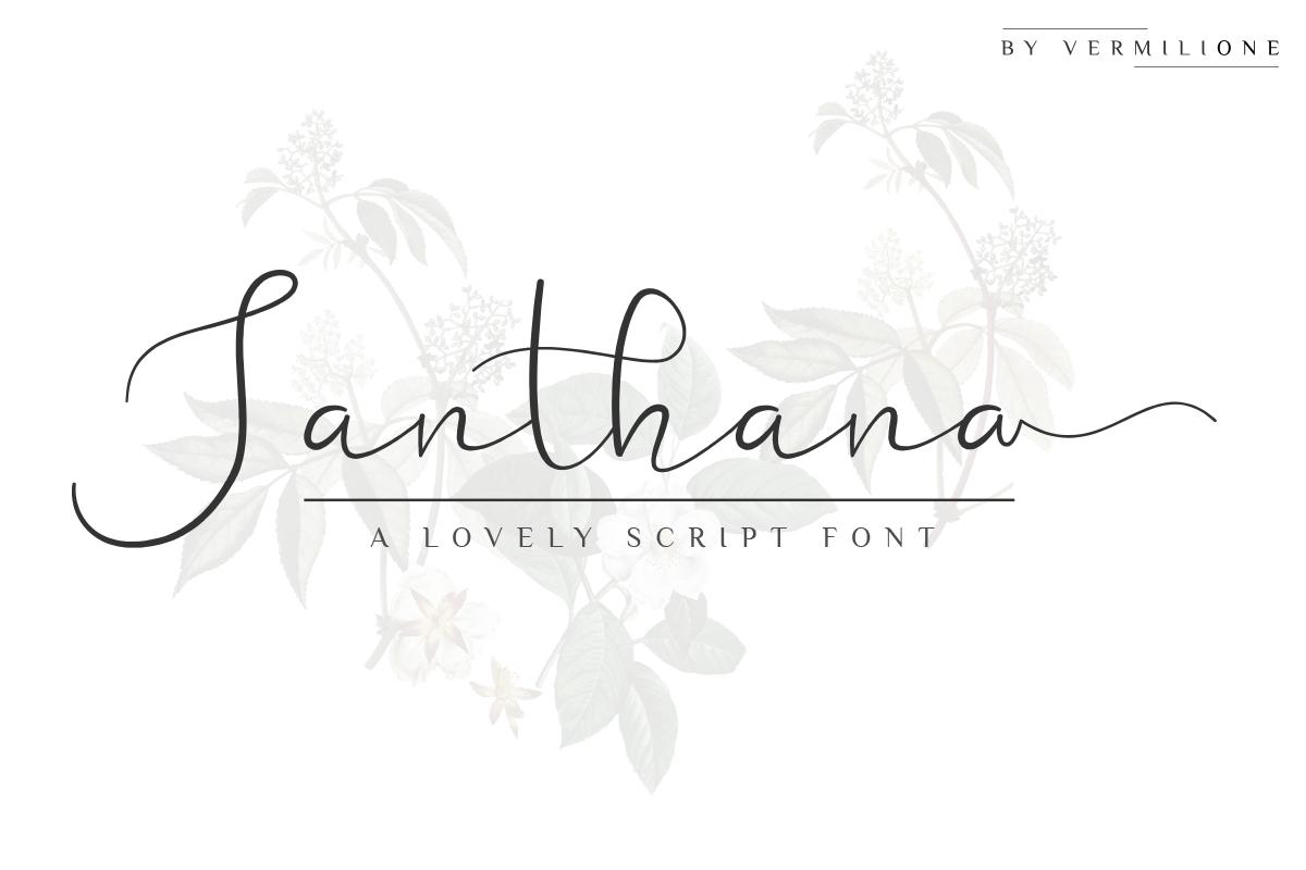 Santhana Lovely Script Font example image 1