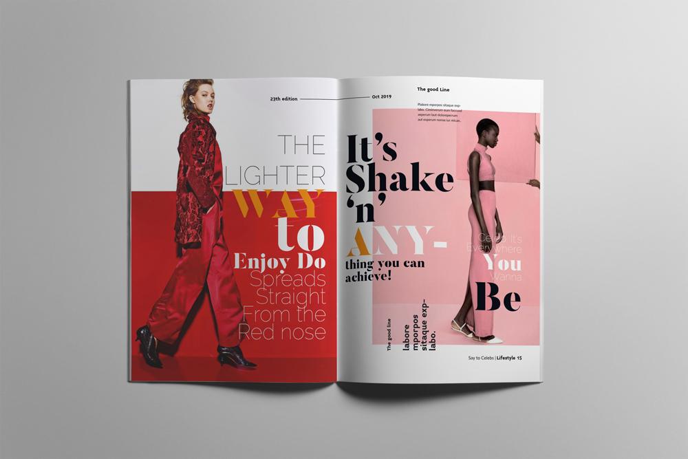 Fashion Magazine Layout Template example image 8