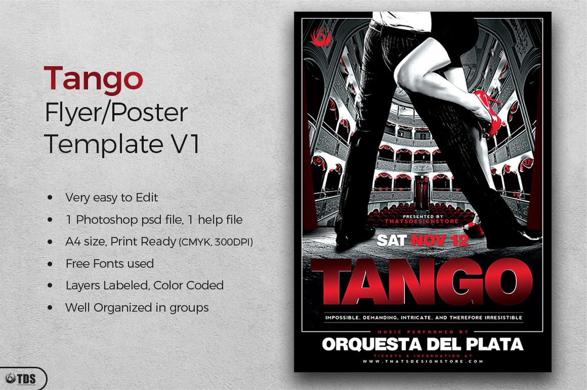 Tango Flyer Template V1 example image 2
