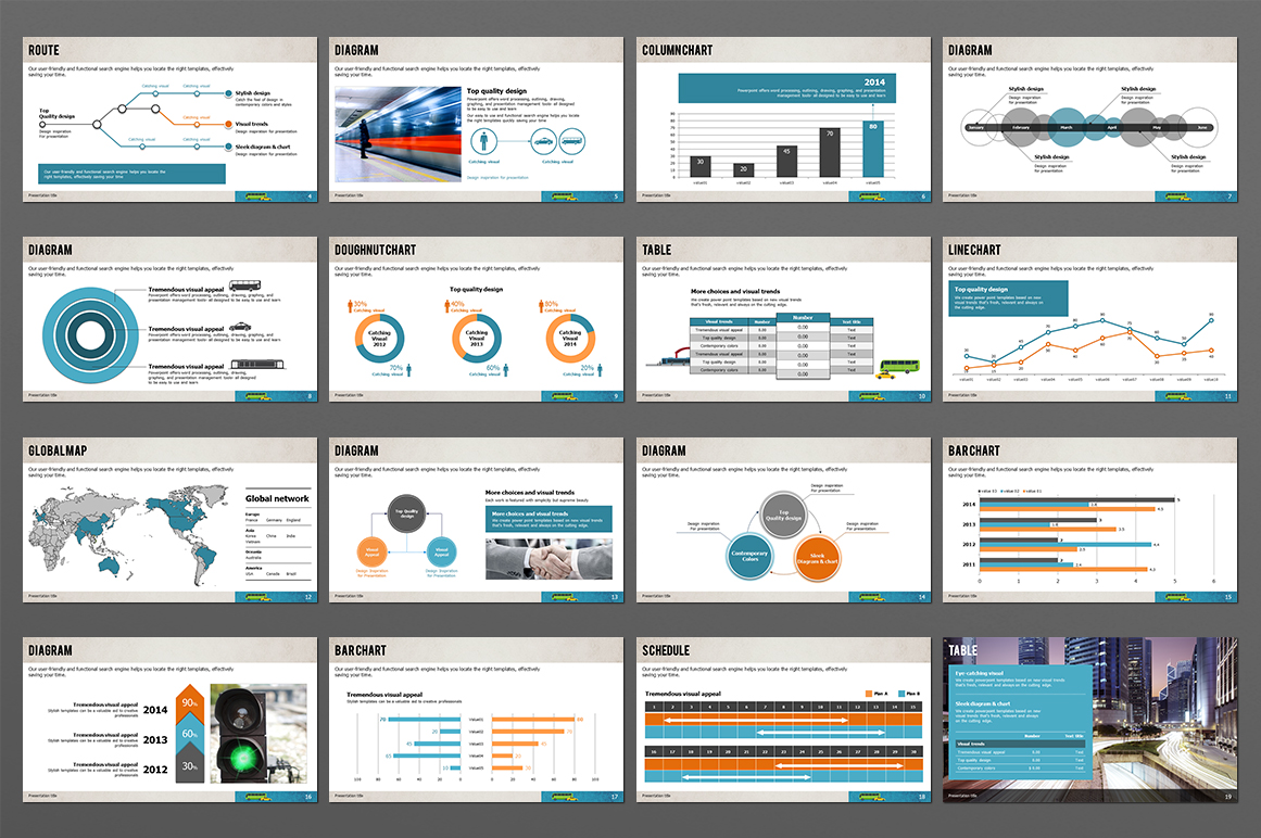 Transportation PPT Template example image 2