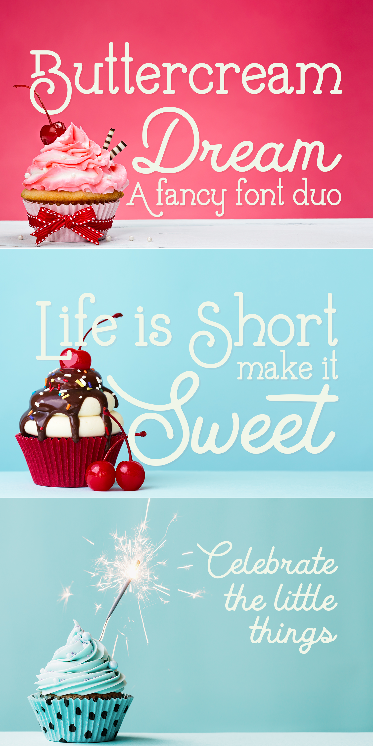 Buttercream Dream - A fancy font duo example image 17