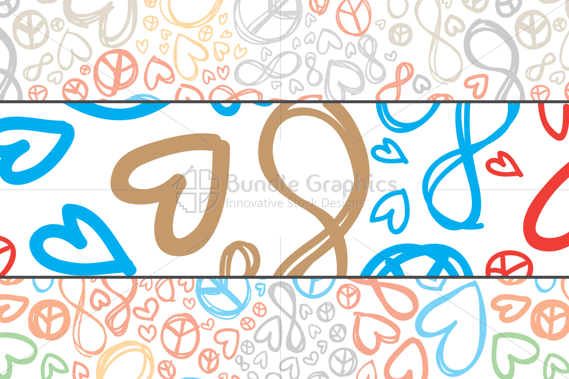 Love, Peace, Infinity - Colorful Pattern Set example image 2