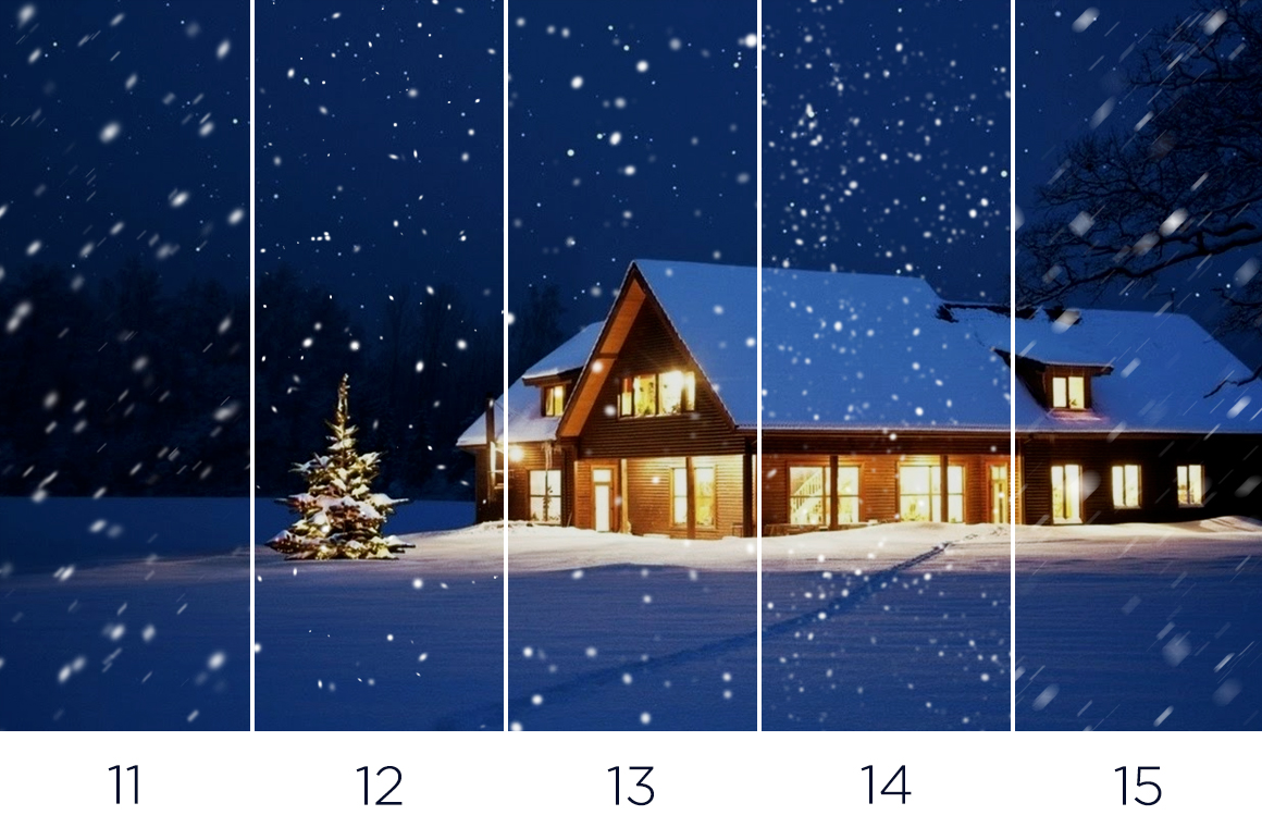 30 Real Snow Overlays example image 6